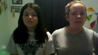 Savanah And Kristina Singing Our Song