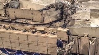 M1A2 SEP TUSK II Reactive Armor Installation