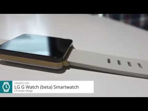 LG G Watch shows up in hands-on video for the first time