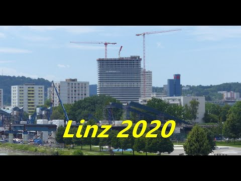 Linz, Austria: Modern Urbanity (Highrise, Bridge Construction Summer 2020)