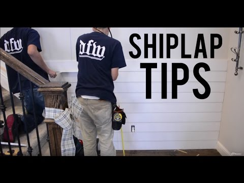 How to install shiplap youtube - How to install shiplap on interior walls ...