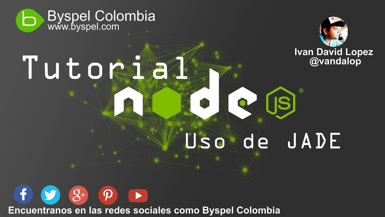 Tutorial Node.js - #3 (Motor de plantillas JADE) - YouTube