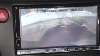 アルパインカーナビ VIE-X08 フロント&リアカメラ自動切替 Uターン thumbnail