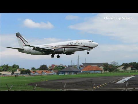 Boeing 737-300 Xpress Air Landing dan Take Off di Bandara Husein Sastranegara Bandung