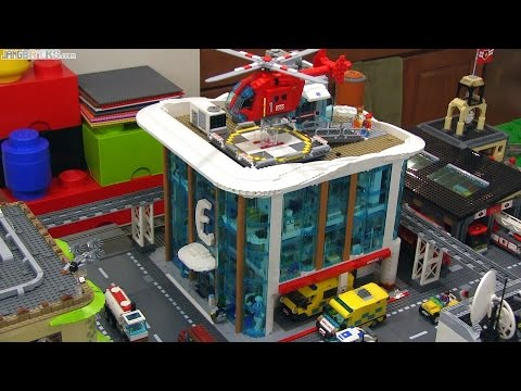 Find A Gas Station >> Custom LEGO hospital MOC progress - COMPLETE! - YouTube
