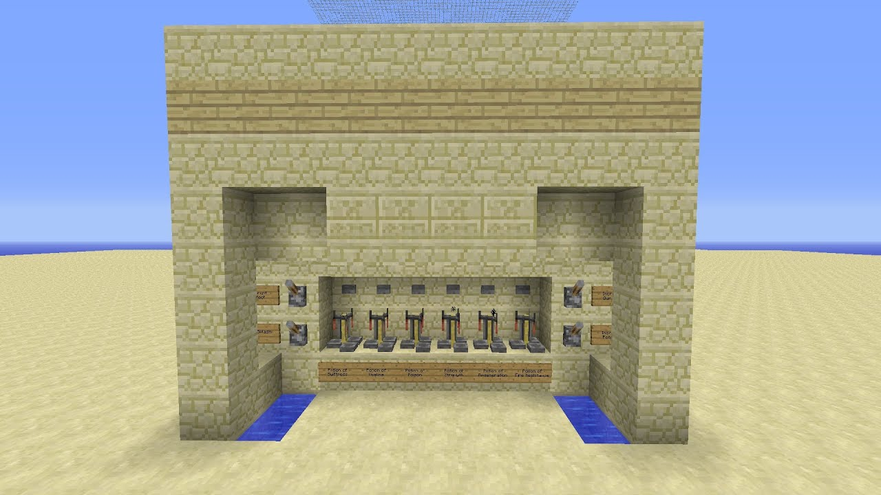 Minecraft How To Build A Potion Lab