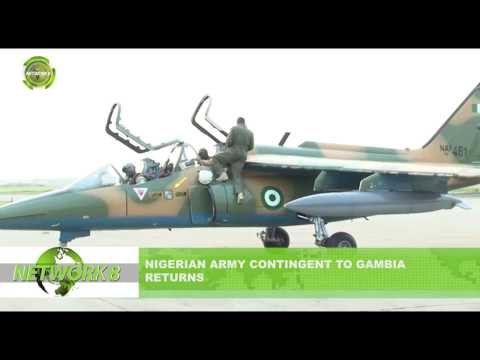NIGERIA ARMY CONTINGENT TO GAMBIA RETURNS
