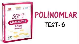 (2020) 345 AYT MATEMATİK POLİNOMLAR TEST-6 ÇÖZÜMLERİ