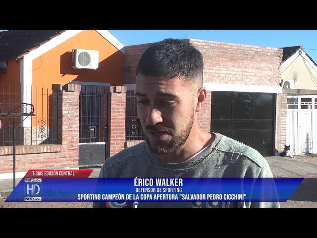 Érico Walker  Sporting campeón Apertura Salvador Pedro Cicchini