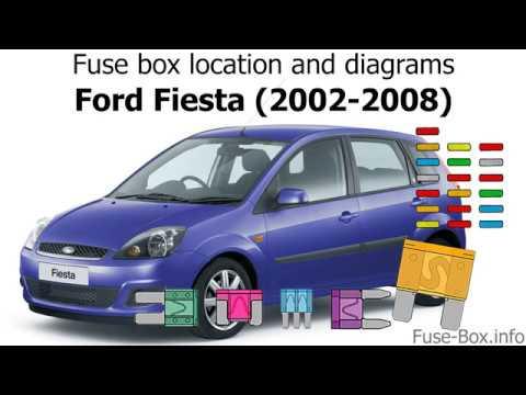 [SCHEMATICS_4FD]  Fuse box location and diagrams: Ford Fiesta (2002-2008) - YouTube | Fuse Box On Ford Fiesta 2003 |  | YouTube