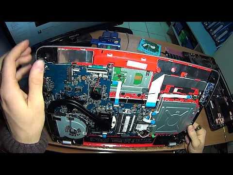 как разобрать ноутбук HP Envy 17 How To Dissasemble 17 J022sr