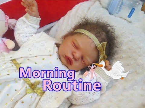 Reborn Baby Dolls Morning Routine Feeding Video Drinking Milk Roleplay Video All4reborns Youtube