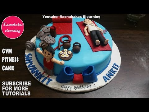 Gym Fitness Workout Bodybuilding Lover Theme Birthday Cake For Boys