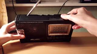 Обзор Радиоприёмника ATLANFA AT 58  MW FM TV SW