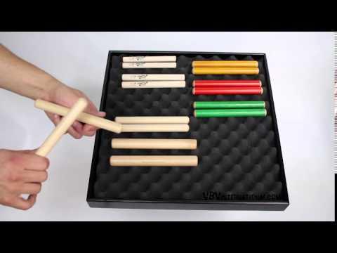 Claves Beech 18x1.8cm - 1+ video