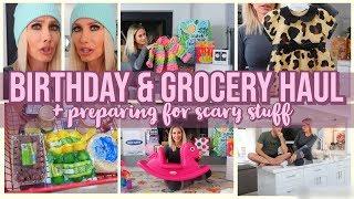 BIRTHDAY & VEGAN FOOD HAUL + PREPARING FOR SOMETHING SCARY | CHANNON ROSE VLOGS