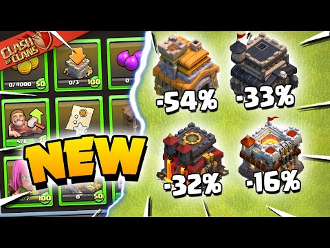 New Starter Challenges and HUGE Reductions - Clash of Clans Update Sneak Peek 2! - Judo Sloth Gaming