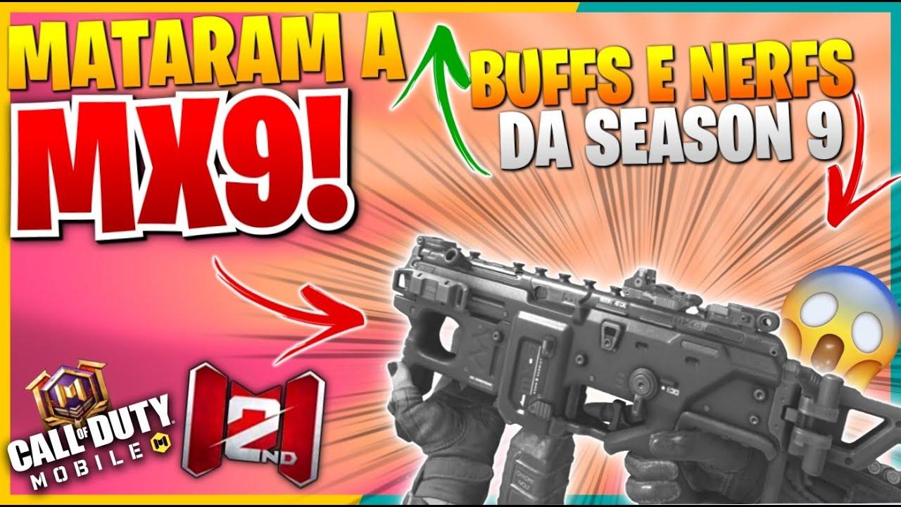 Download BUFFS E NERFS DA SEASON 9 COD MOBILE - ADEUS MX9!