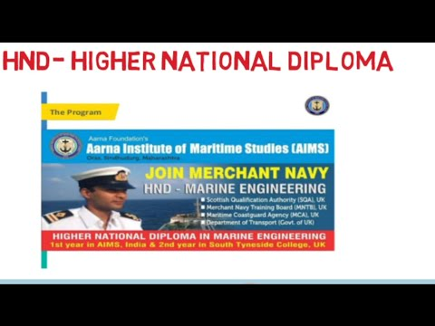 HND- Higher National diploma | Merchant Navy course