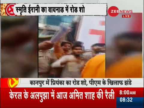 Lok Sabha election 2019: People chants 'Modi-Modi' in Priyanka Gandhi's kanpur roadshow