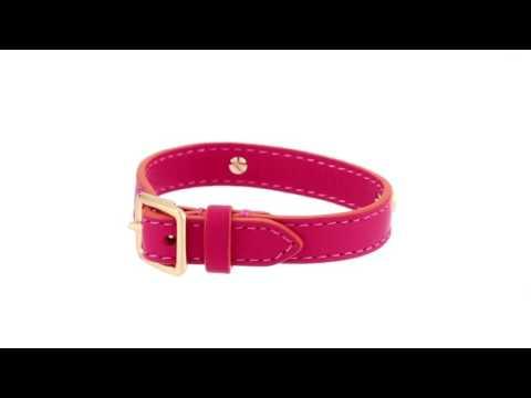 COACH - Leather Buckle Coach Plaque Bracelet  SKU:8891107
