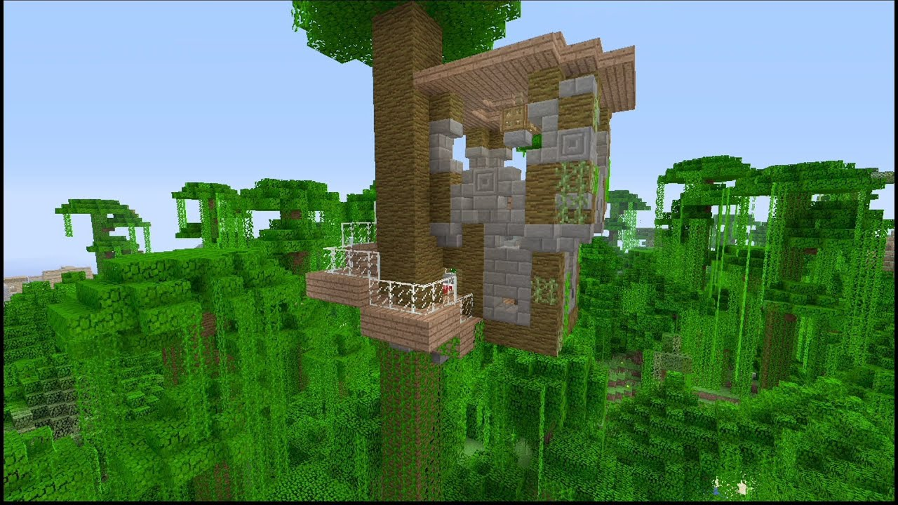 How To Build A Tree House In Minecraft YouTube