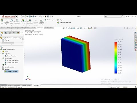 SolidWorks Transient Thermal Analysis with Only Initial Temp
