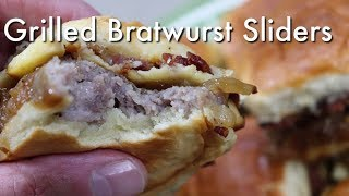 Grilled Bratwurst Sliders / Easy Grilled Bratwurst Sliders Recipe