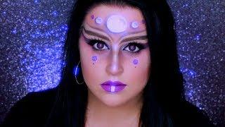 ALIEN MAKEUP TUTORIAL | Glam Alien Halloween Makeup