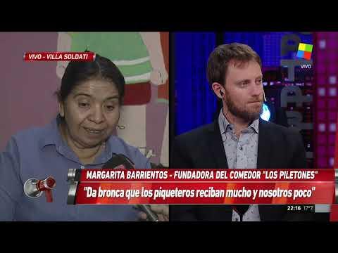 """Margarita Barrientos: """"No veo a ningún piquetero pidiendo trabajo"""""""
