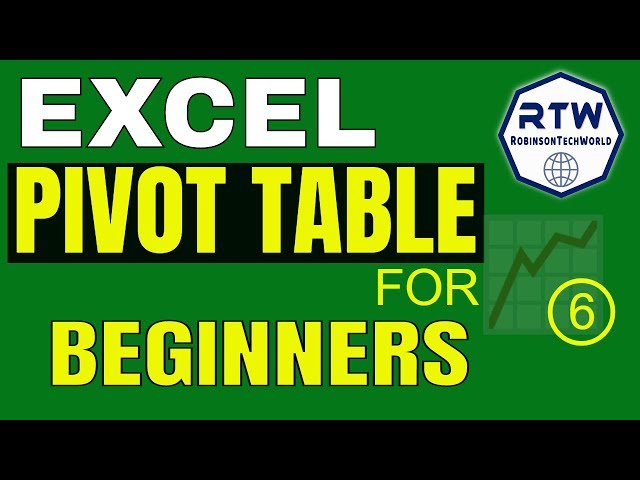 Excel pivot tables for beginners tutorial