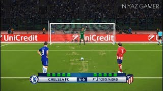 CHELSEA vs ATLETICO MADRID | UEFA Champions League - UCL | Penalty Shootout | PES 2018 Gameplay PC