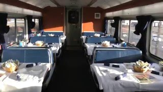 interior walk through of Amtrak train California Zephyr