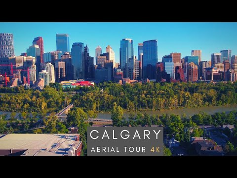 Downtown Calgary - 4K AERIAL TOUR