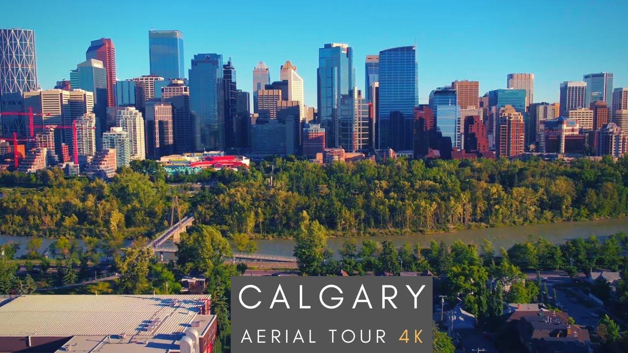 Downtown Calgary - 4K AERIAL TOUR