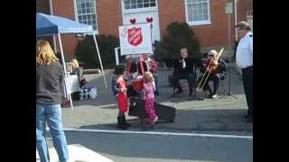 Louisa County Salvation Army Has A Little Helper at the Kettle!