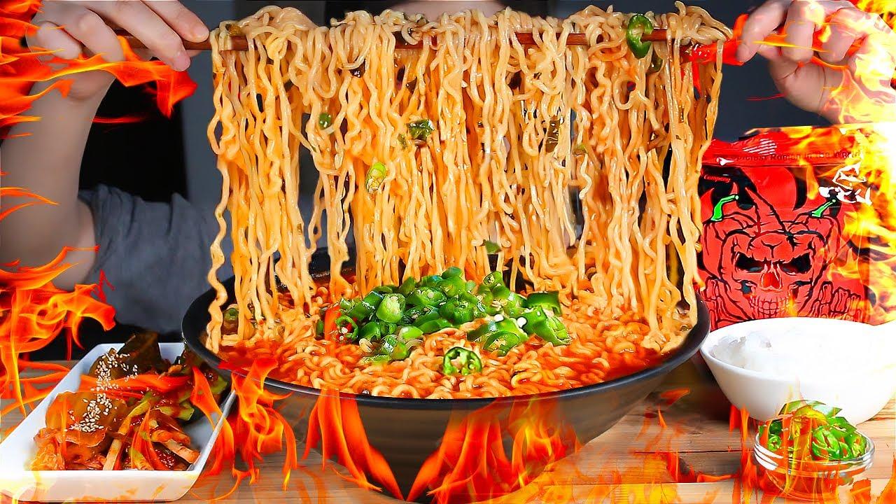 세계에서 제일 매운 라면 불마왕라면🔥14,444 SHU 먹방/THE SPICIEST NOODLE SOUP IN THE WORLD! The Devil of Fire MUKBANG