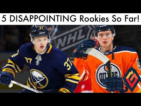 5 Disappointing NHL Rookies So Far