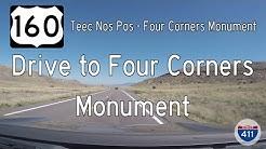 US Highway 160 - Teec Nos Pos - Four Corners - Arizona | Drive America's Highways 🚙