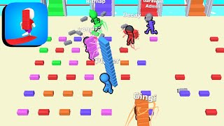 Bridge Race - All Levels Gameplay Android,ios (Levels 3-5) screenshot 1