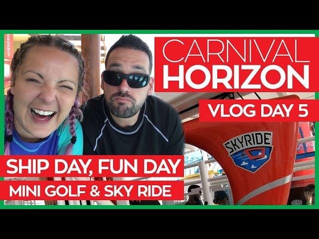 Carnival Horizon   Skyride & JiJi Asian Kitchen   Cruise Vlog Day 05