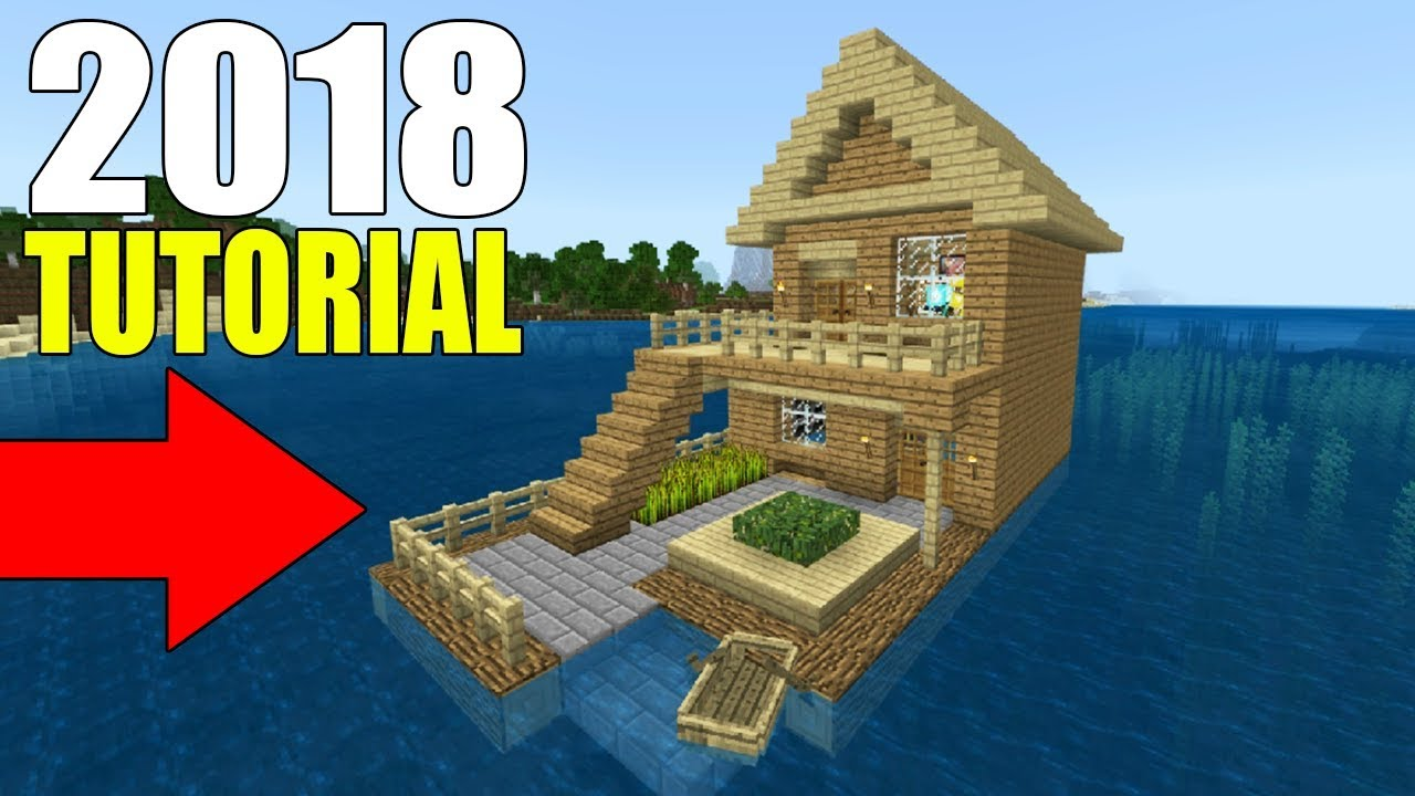Minecraft Tutorial: How To Make A Wooden House On The Water 12