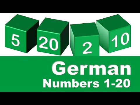 German Numbers 1-20