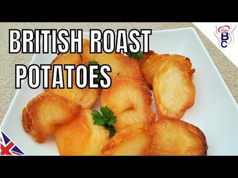 BRITISH FOOD Traditional Roast Potatoes Recipe British Cooking