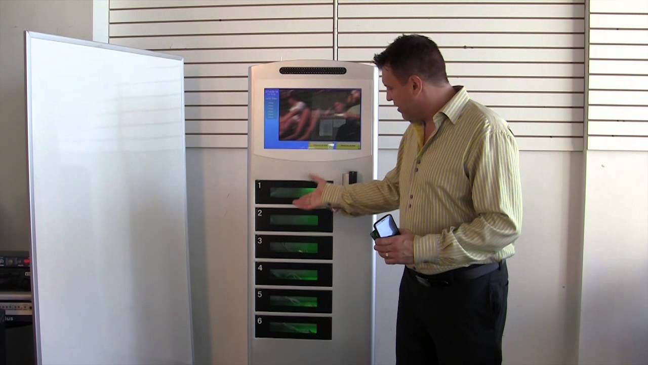commercial cell phone charging station with lockers cell juicer youtube