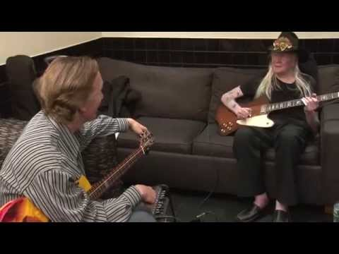 "Johnny Winter "" Last TV Interview "" with Bob Miles - 04/2014"