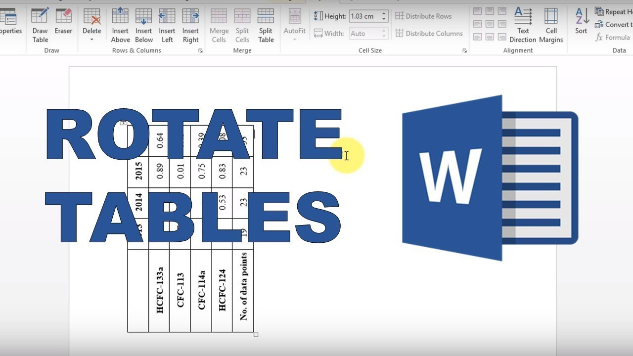How to rotate tables in word