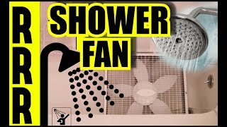 Gambar cover SHOWER SOUNDS + FAN NOISE + BLACK SCREEN = SHOWERING RELAXATION SOUNDS For Rest Via  SHOWER SOUND