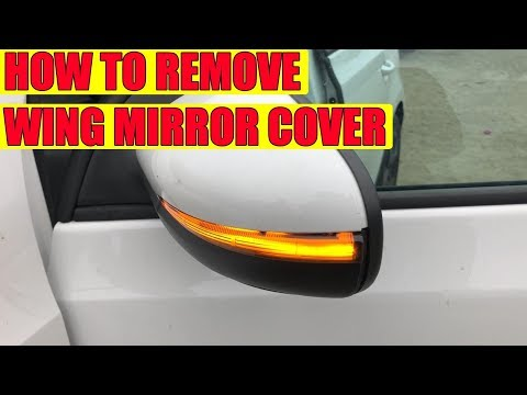 How to remove wing mirror cover (cap) on VW Golf Mk6, Jetta in 8 steps