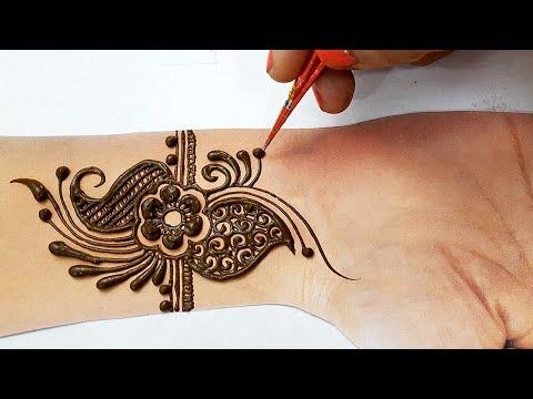 Simple Stylish Mehndi Henna Design for Hands 2019 - आने वाले तीज त्योहारों पे लगाए ये मेहँदी